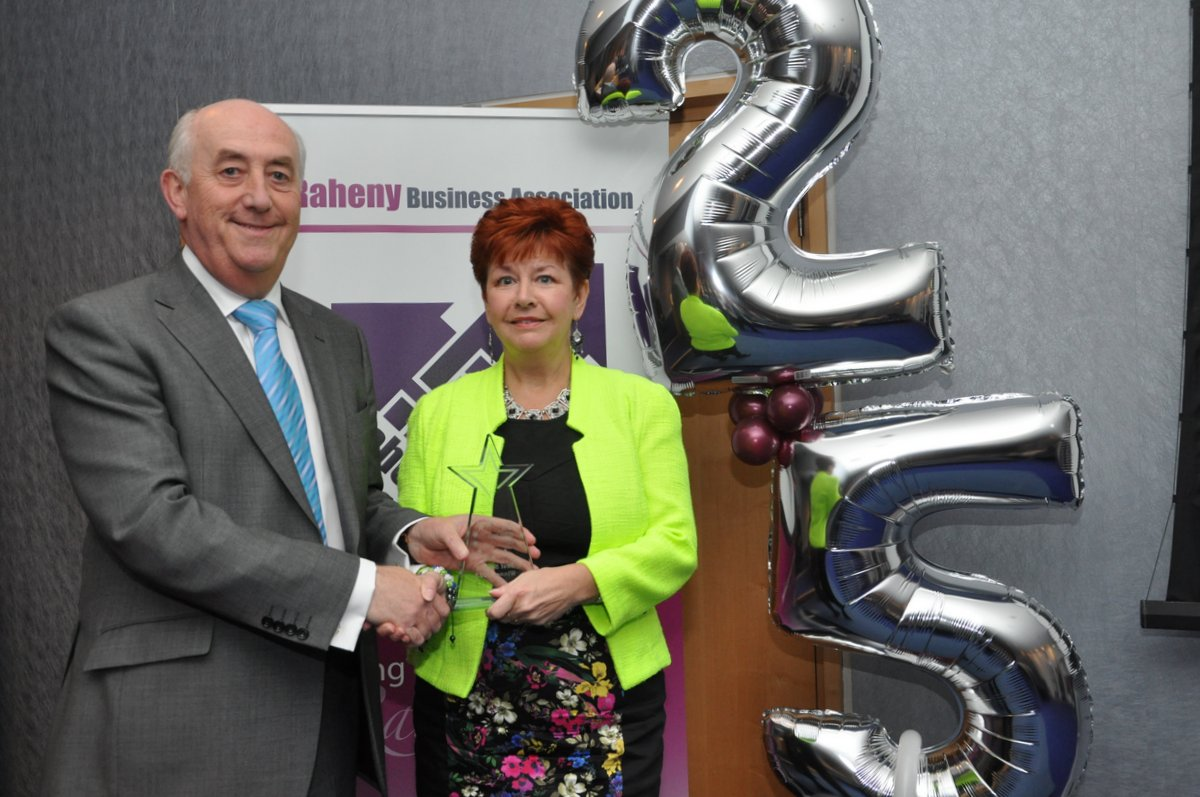 Anne-Marie receiving Best Service Awards Raheny Business Association 8 Oct 2013