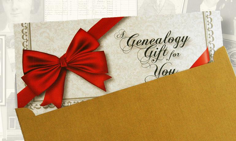 Genealogy gift certificate