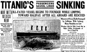 titanic newspaper article